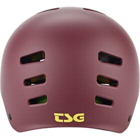 TSG Evolution Solid Color Helm Damen satin plum red